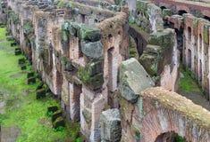 Colosseum amfiteaterarena och hypogeum, Rome Royaltyfria Foton