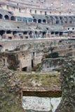 Colosseum amfiteaterarena och hypogeum, Rome Fotografering för Bildbyråer