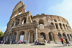 Colosseum Amphitheater in Rome Stock Image
