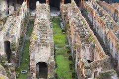 Colosseum Amphitheatre Arena and Hypogeum - Rome Royalty Free Stock Photos