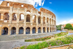 Colosseum Amphitheatre Rome Stock Photography