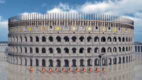 Colosseum in ancient Rome Royalty Free Stock Images