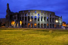Colosseum, ancient Rome most famous landmark Royalty Free Stock Images