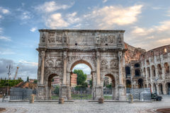 Colosseum and Arch of Constantine, Rome, Italy Stock Images
