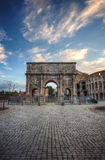Colosseum and Arch of Constantine, Rome, Italy Royalty Free Stock Image