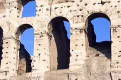 Colosseum Arches Closeup stock images