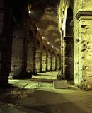 Colosseum arches, Rome, Italy. Underneath the arches of the Colosseum at night, Rome, Lazio, Italy, Europe Stock Photos