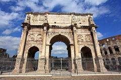 Colosseum and  Arco de Costantino Stock Photo