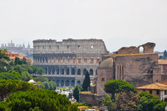 The Colosseum as seen from the Palazzo di Venezia in Rome, Italy. Stock Photo