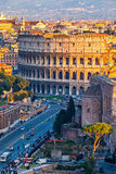 Colosseum au coucher du soleil Photographie stock