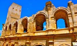 Colosseum av Arles Arkivbilder