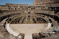 Colosseum, basement area below the arena Royalty Free Stock Photos