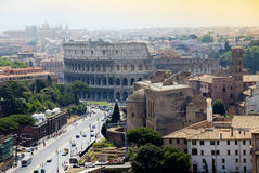 Colosseum and Basilica Royalty Free Stock Images