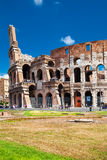 Colosseum in Beautiful Summer Day with Blue Sky Royalty Free Stock Images