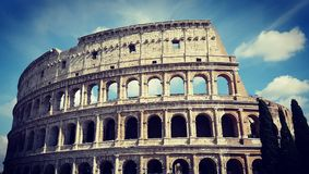 Colosseum - The beauty of Roma. Picture taken on our first day in Roma as a part of summer euro trip 2016 Royalty Free Stock Photo