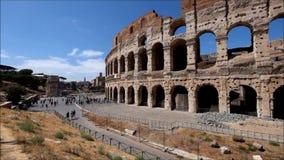 colosseum berömda italy mest ställerome sikt stock video