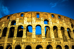 colosseum berömda italy mest ställerome sikt royaltyfri bild