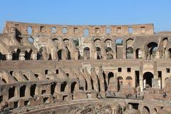 colosseum berömda italy mest ställerome sikt arkivfoto