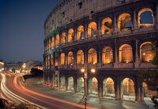 Colosseum bij nacht Royalty-vrije Stock Fotografie