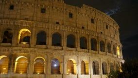 Colosseum bij nacht, Rome, Italië, timelapse, 4k stock videobeelden