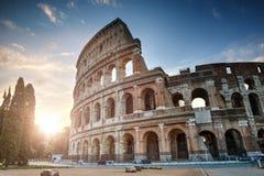 Colosseum bij Zonsopgang, Rome, Italië royalty-vrije stock afbeelding