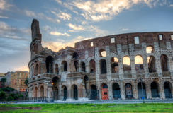 Colosseum bij Zonsopgang, Rome, Italië stock foto's