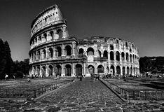 Colosseum. In Black & White, Rome, Italy Royalty Free Stock Photos