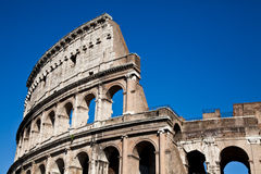 Colosseum with blue sky Stock Photos