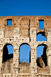 Colosseum with blue sky Stock Images
