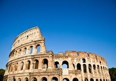 Colosseum with blue sky Stock Photo
