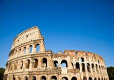 Colosseum with blue sky stock photo