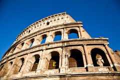Colosseum with blue sky Stock Photography