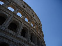 Colosseum with blue sky royalty free stock images