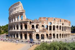 The Colosseum in central Rome on a sunny summer day Royalty Free Stock Image