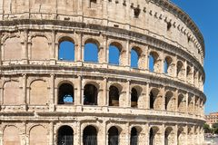 The Colosseum in central Rome on a sunny summer day Stock Photos