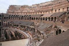 The Colosseum in the centre of the city of Rome Royalty Free Stock Images