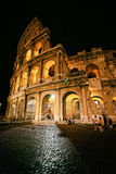 Colosseum in city center of Rome Italy at dusk Royalty Free Stock Photography