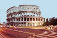 Colosseum in city center of Rome Italy in evening Stock Photography
