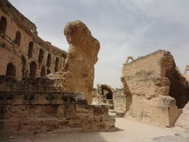 The Colosseum in the city of El Djem Royalty Free Stock Photography