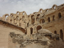 The Colosseum in the city of El Djem Royalty Free Stock Images