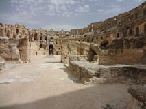 The Colosseum in the city of El Djem Stock Images