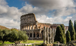Colosseum. With a cloudy sky Royalty Free Stock Photos