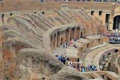 Colosseum, coliseu ou Coloseo, o símbolo nunca construído o maior de Flavian Amphitheatre da cidade antiga de Roma em Roman Empir imagens de stock