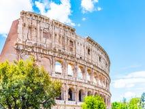 Colosseum, coliseu ou Flavian Amphitheatre, em Roma, Itália fotografia de stock royalty free