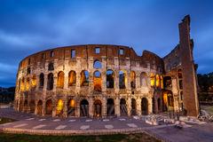 Colosseum or Coliseum, also known as the Flavian Amphitheatre Stock Image