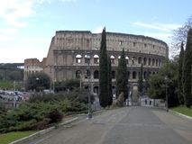 The colosseum in the center of Rome stock photos