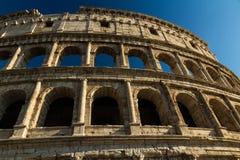 Colosseum or Coliseum Amphitheatre, evening in Rome. Stock Images