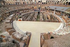 Colosseum, Coliseum or Coloseo, Flavian Amphitheatre largest ever built symbol of ancient Roma city in Roman Empire. ROMA, ITALY - 01 OCTOBER 2017: Colosseum Stock Photo