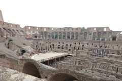 Colosseum, Coliseum or Coloseo, Flavian Amphitheatre largest ever built symbol of ancient Roma city in Roman Empire. ROMA, ITALY - 01 OCTOBER 2017: Colosseum Stock Images