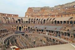 Colosseum, Coliseum of Coloseo, het grootste ooit gebouwde symbool van Flavian Amphitheatre van de oude stad van Rome in Roman Em Stock Foto